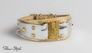 collars for italian greyhounds gold silver